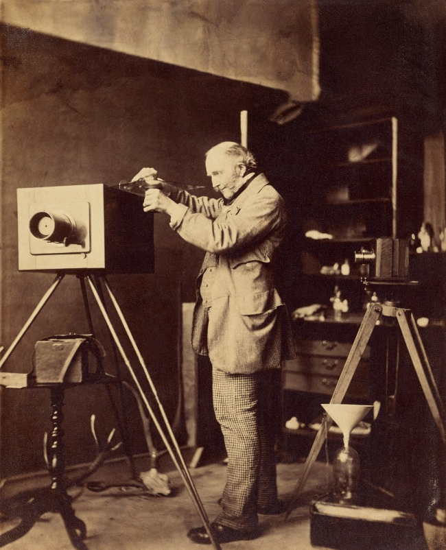 Capt. Horatio Ross (British, 1801-1886) '[Self-portrait preparing a Collodion plate]' 1856-1859