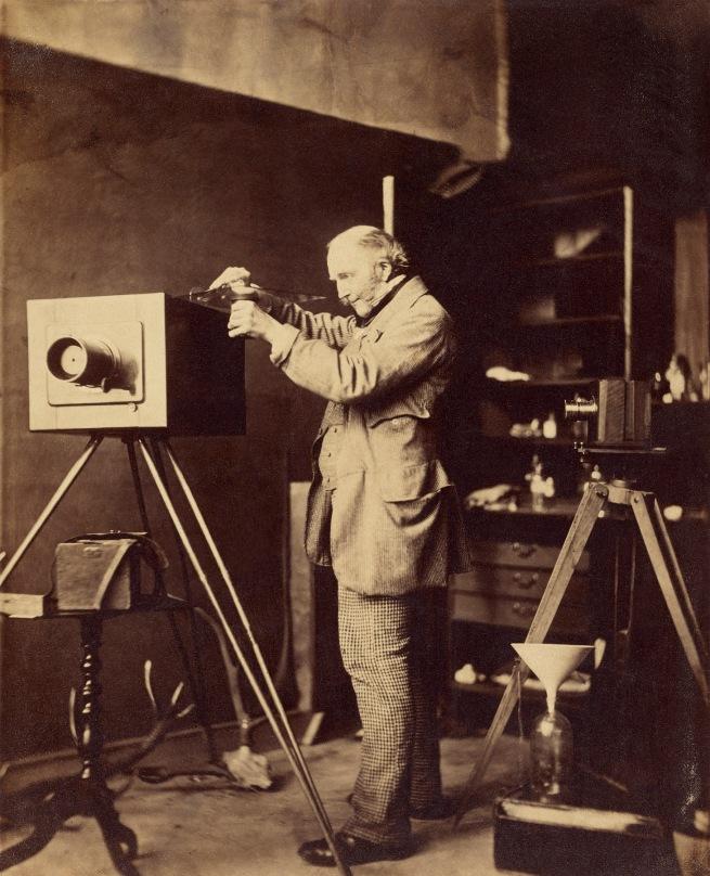 Capt. Horatio Ross (British, 1801-1886) '[Self-portrait preparing a Collodion plate]' 1856-1859