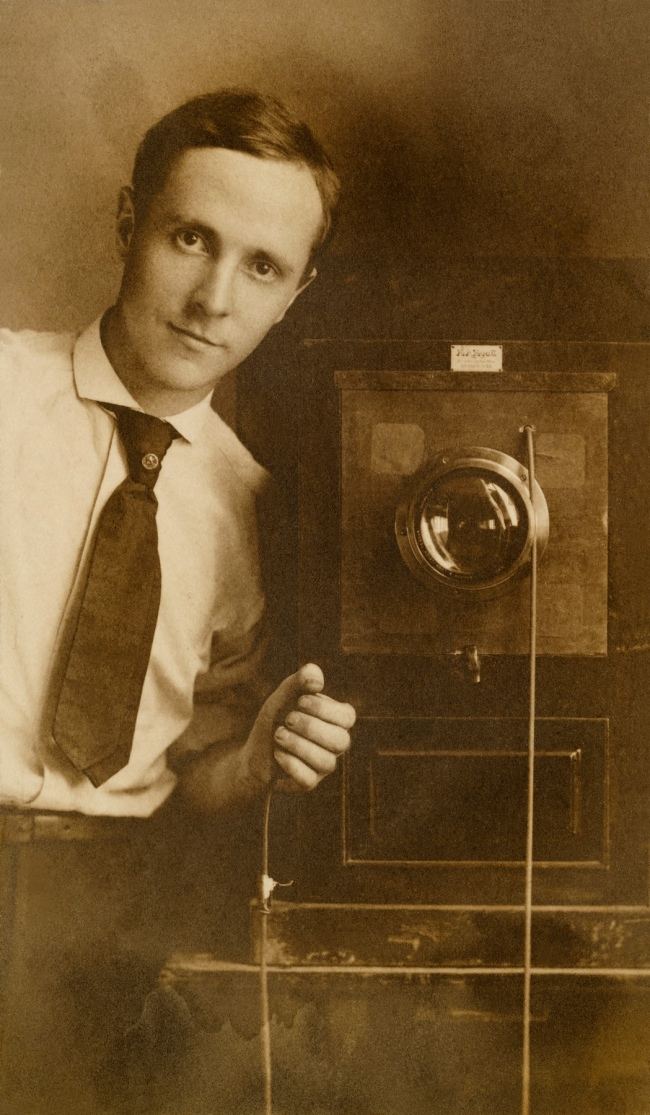 Edward Weston (American, 1886-1958) 'Self Portrait with Camera' 1908
