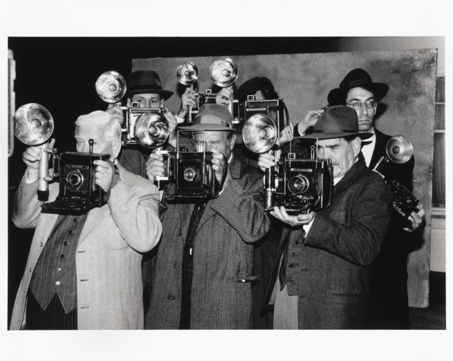 Anthony Friedkin (American, born 1949) 'Extras with Film Cameras' 1996