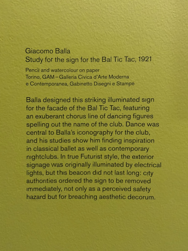 Giacomo Balla wall text