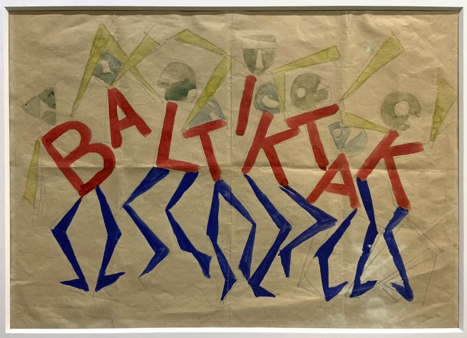 Giacomo Balla Design for the sign and flashing light for the facade of the Bal Tic Tac 1921 (installation view)