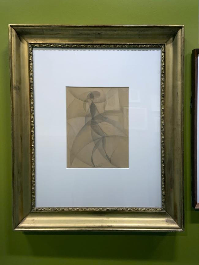 Giacomo Balla. 'Dancer from the Bal Tic Tac' 1921 (installation view)