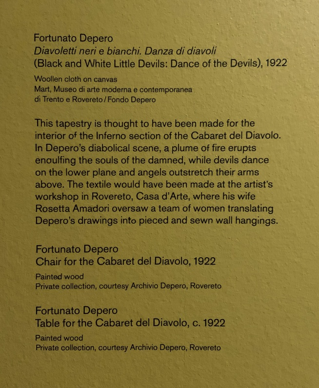 Fortunato Depero wall text