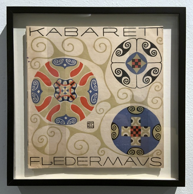 Carl Otto Czeschka (design) First programme for the Cabaret Fledermaus (installation view)