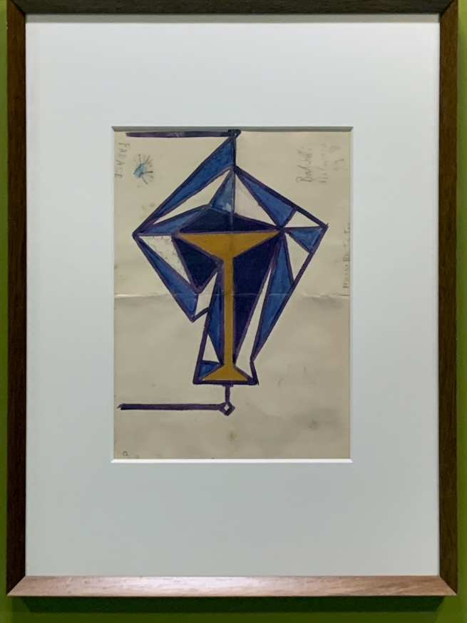 Giacomo Balla. 'Design for a light for the Bal Tic Tac' 1921 (installation view)
