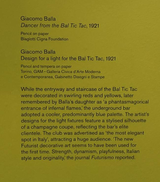 Giacomo Balla wall text