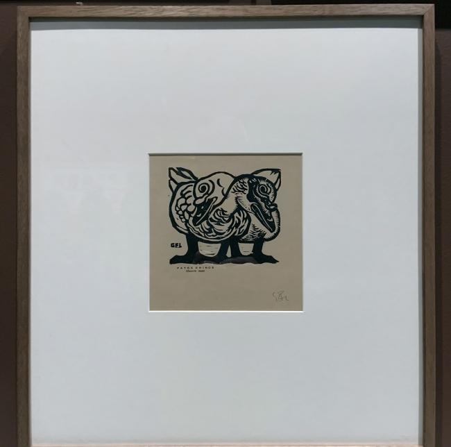 Gabriel Fernández Ledesma. 'Patos Chinos' (Chinese Ducks) 1928 (installation view)