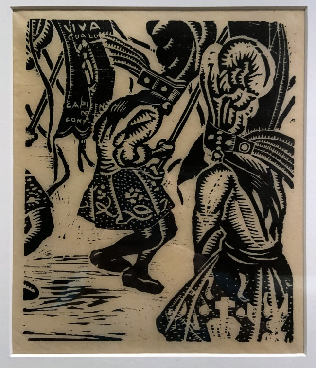 Fernando Leal. 'Danzantes' (Dancers) 1922 (installation view)