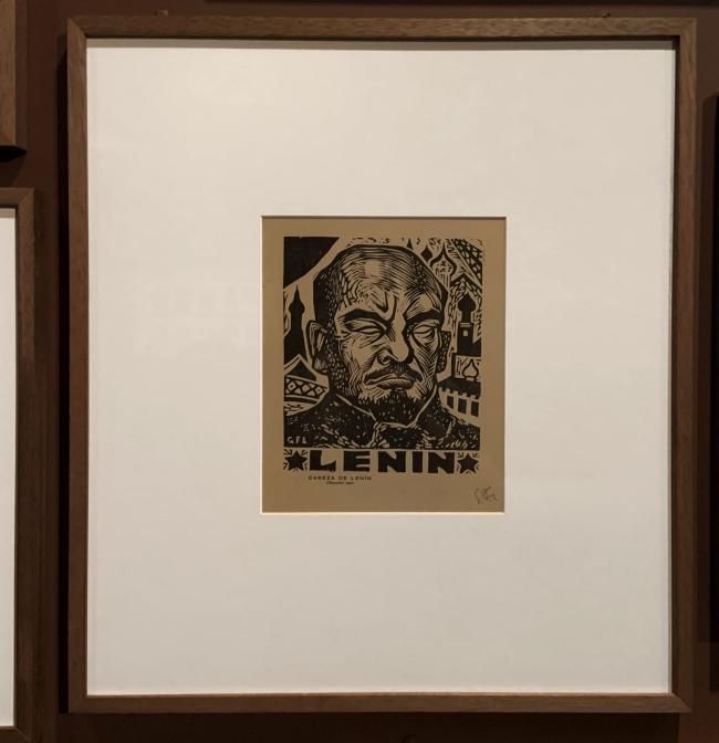 Gabriel Fernández Ledesma. 'Cabeza de Lenin' (Head of Lenin) 1927 (installation view)