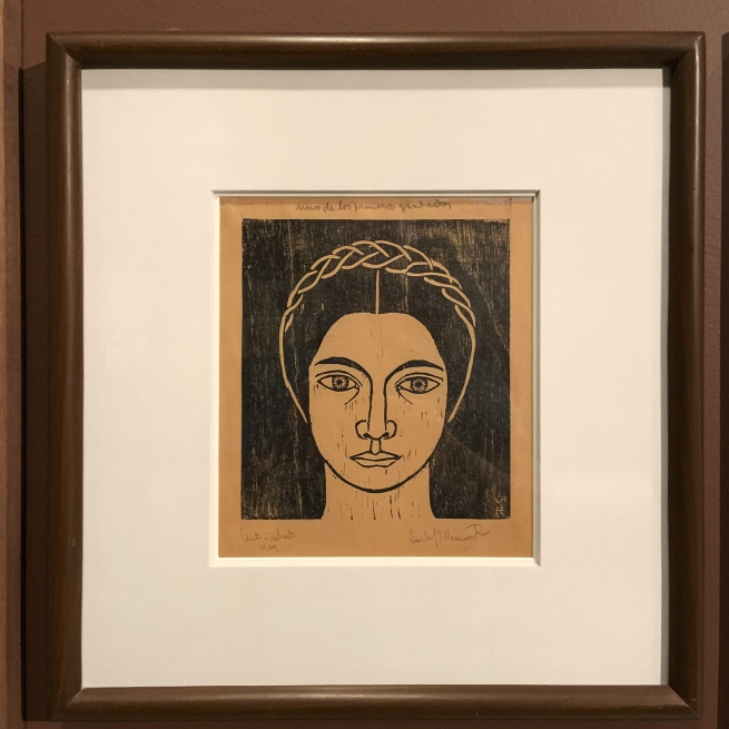 Isabella Villaseñor. 'Autorretrato' (Self-portrait) 1928 (installation view)