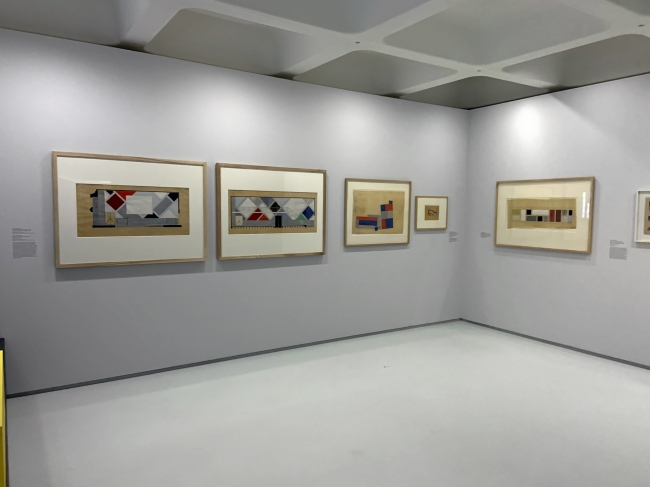 Installation view of the exhibition Into the Night: Cabarets and Clubs in Modern Art at the Barbican Art Gallery
