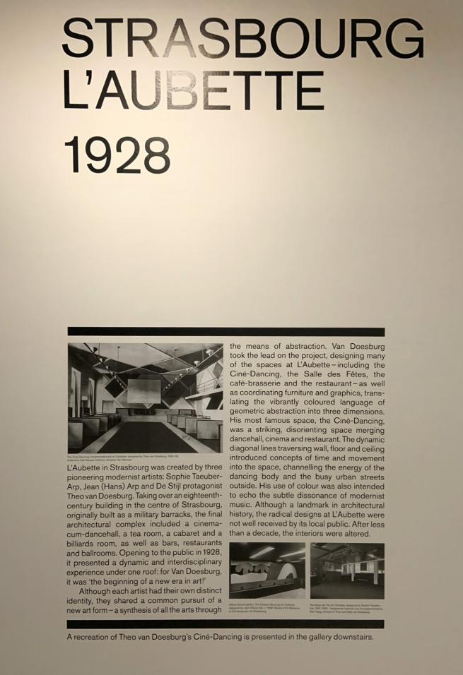 Strasbourg L'Aubette 1928 wall text