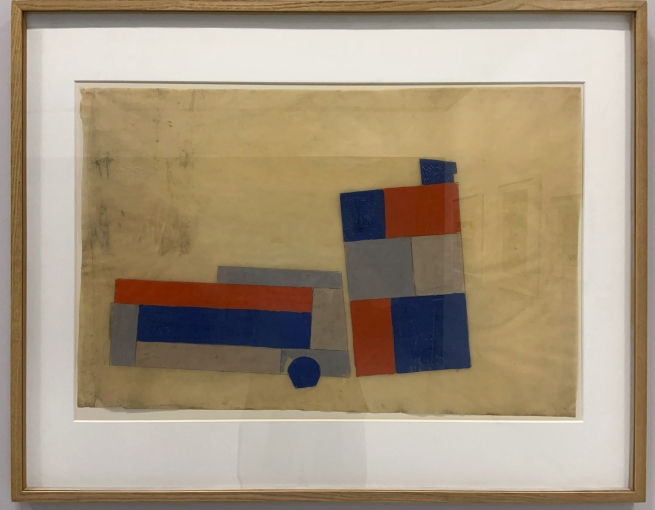 Theo van Doesburg L'Aubette: Projet de composition pour le sol du café-brasserie et du café-restaurant (L'Aubette: Design for a composition for the floor of the café-brasserie and the café-restaurant) 1927 (installation view)