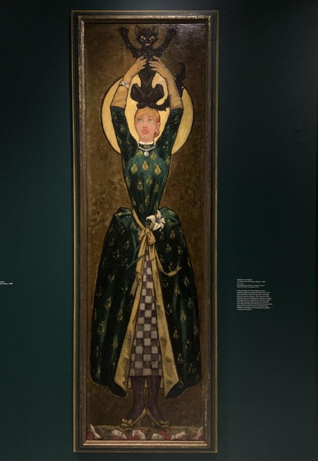 Adolphe-Leon Wilette. 'La Vierge verte' (The Green Virgin) c. 1881 (installation view)