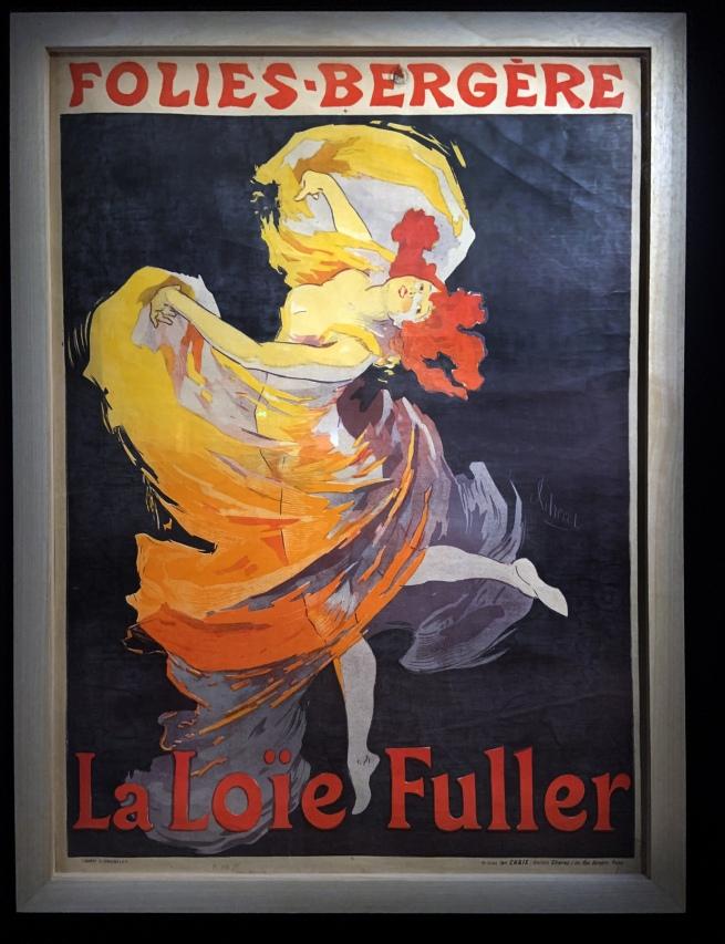 Jules Chéret. 'Fioles Bergère, La Loïe Fuller' 1893 (installation view)