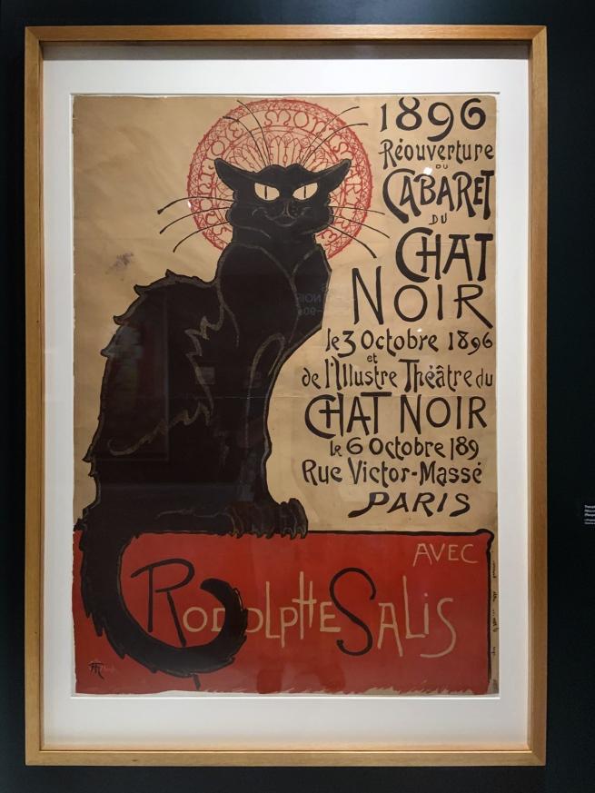 Théophile-Alexandre Steinlen. 'Réouverture du cabaret du Chat Noir' (Reopening of the Chat Noir Cabaret) 1896 (installation view)