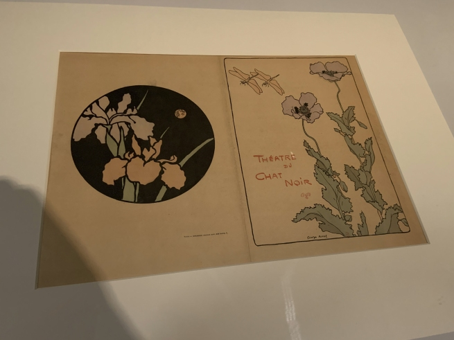 George Auriol Théâtre du Chat Noir (Couverture aux coquelicots) (Programme for the Chat noir Theatre (Cover with Poppies)) 1890 (installation view)