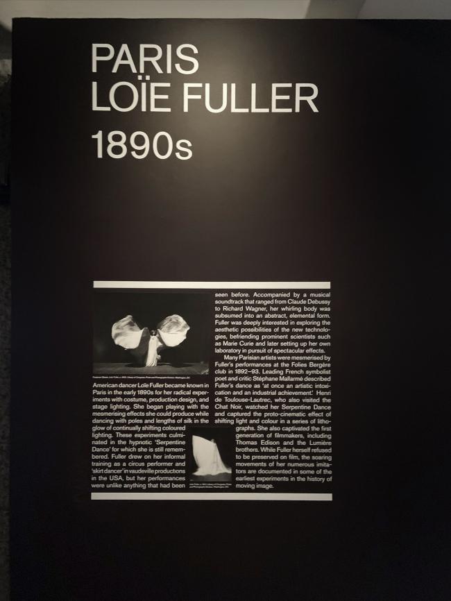Paris: Loïe Fuller 1890s wall text