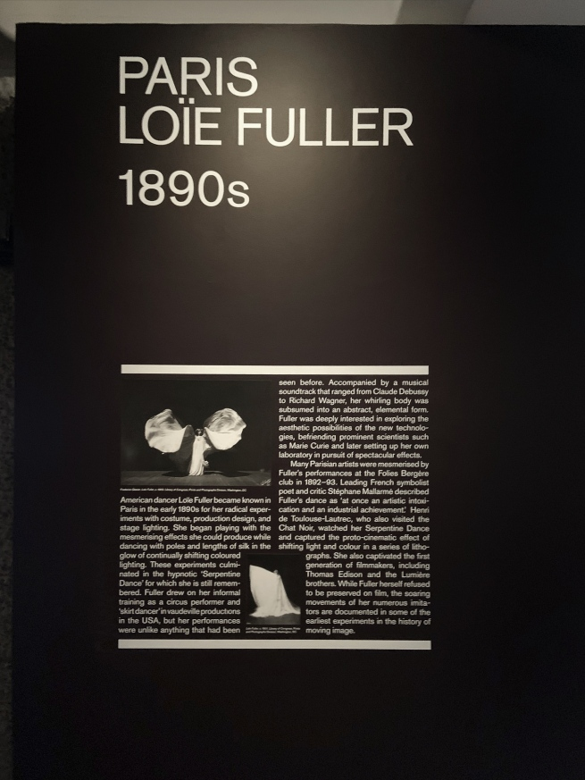 Paris: Loïe Fuller 1890s wall text
