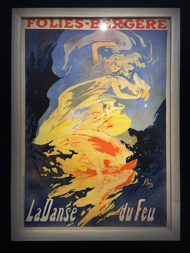 Jules Chéret. 'Folies Bergère, La Danse du Feu' (The Fire Dance) 1897(installation view)