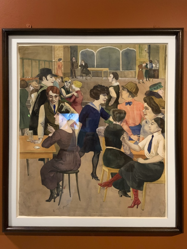 Rudolf Schlichter. 'Damenkneipe' (Women's Club) c. 1925 (installation view)