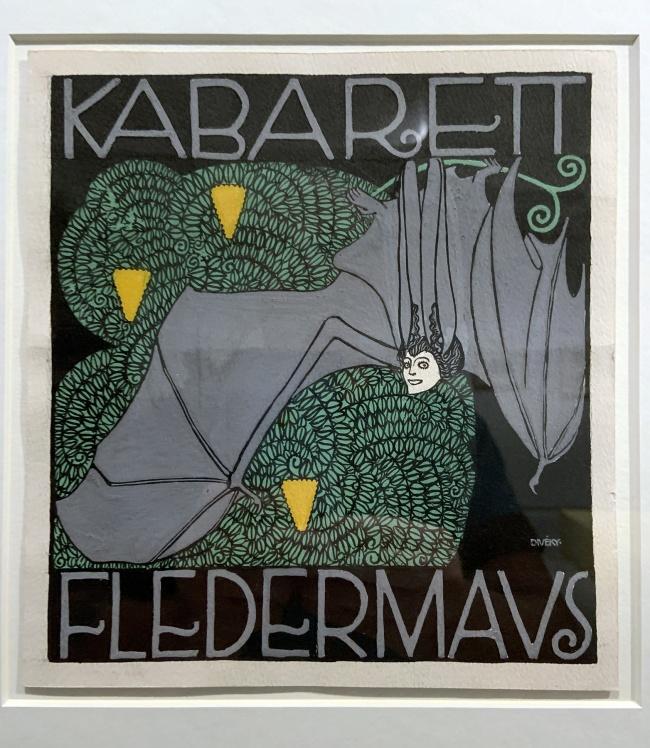 Josef von Divéky. Poster design for the Cabaret Fledermaus (unrealised) 1907