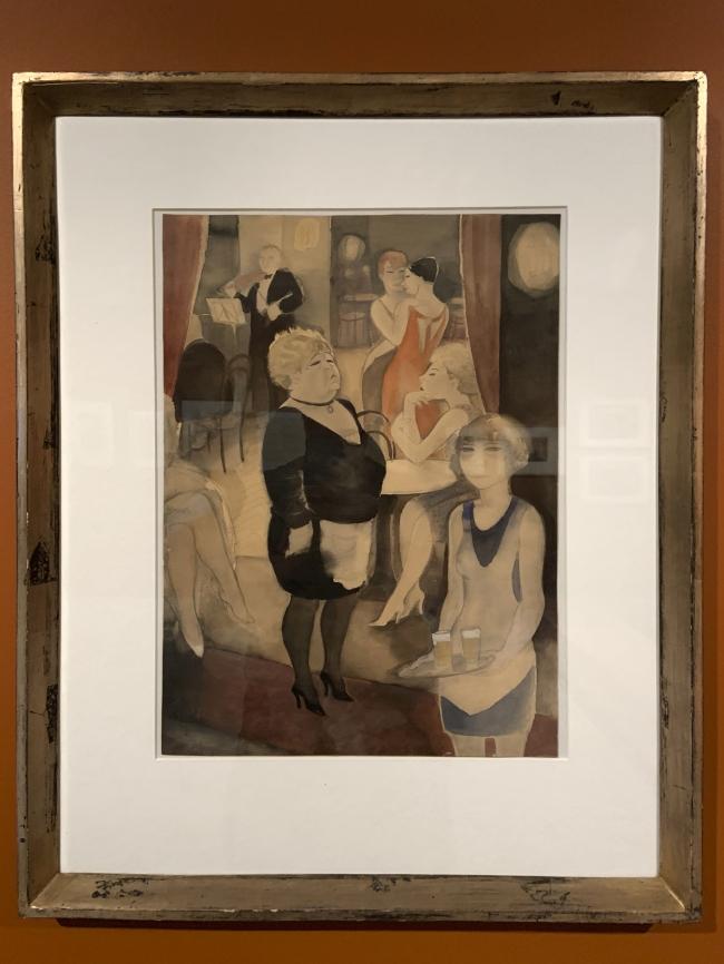 Jeanne Mammen. 'Café Nollendorf' c. 1931 (installation view)