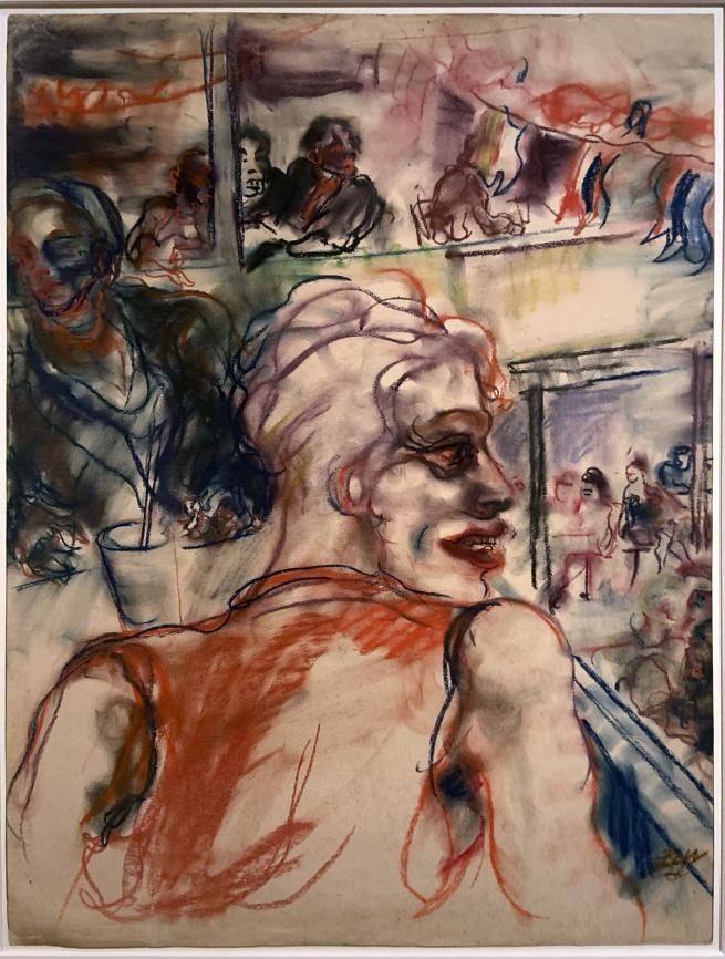 Elfriede Lohse-Wächtler's Ausblick im Nachtlokal (View of a Nightclub) 1930 (installation view)