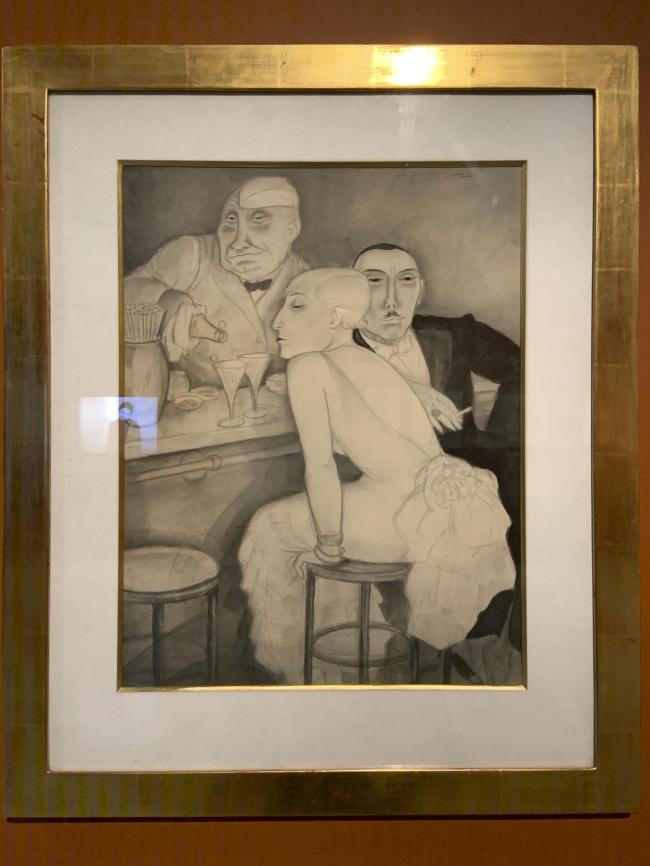 Jeanne Mammen. 'Bar' c. 1930 (installation view)