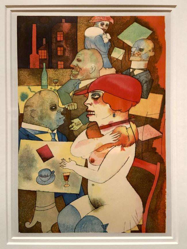 George Grosz. 'Schönheit, dich will ich preisen' (Beauty, Thee Will I Praise) 1923(installation view)