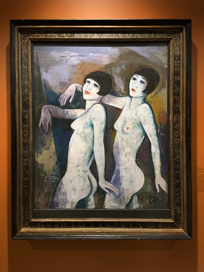 Karl Hofer. 'Tiller Girls' before 1927 (installation view)