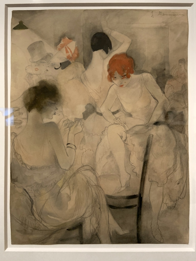 Jeanne Mammen. 'Untitled (Vor dem Auftritt)' (Before the Performance) c. 1928 (installation view)