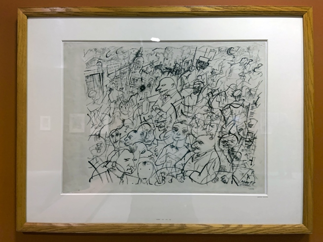 George Grosz. 'Menschen in Cáfe' (People in a Cáfe) 1917 (installation view)