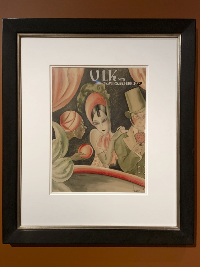 Dodo. 'The Fortune Teller', published in 'ULK' February 1929 (installation view)