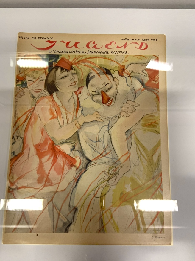 Jeanne Mammen. 'Maskenball' (Masked Ball), published in 'Jugend' vol. 34, no 5, January 1929