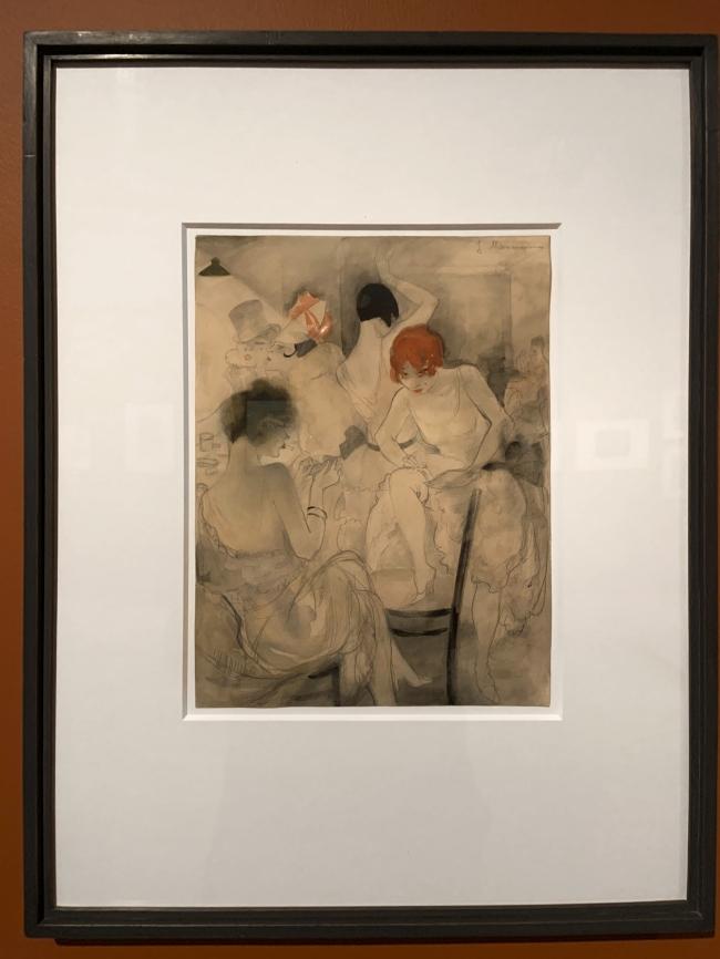 Jeanne Mammen. 'Untitled (Vor dem Auftritt)' (Before the Performance) c. 1928 (installation view)