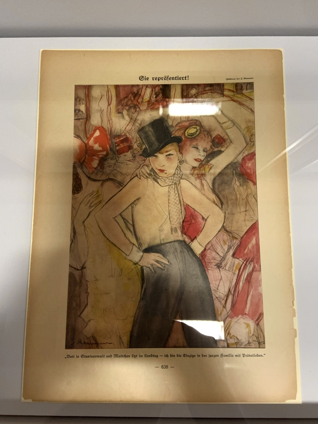 Jeanne Mammen. 'Sie reprasentiert!' (She Represents!), published in 'Simplicissimus' vol. 32, no 47, February 1928