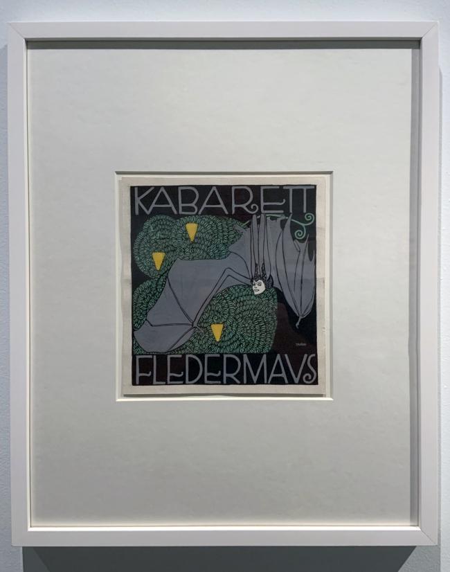 Josef von Divéky. Poster design for the Cabaret Fledermaus (unrealised) (installation view) 1907