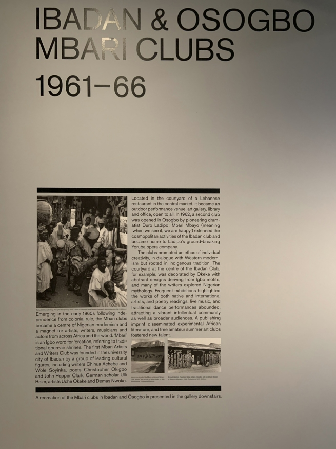 Ibadan & Osogbo Mbari Clubs 1961-66 wall text