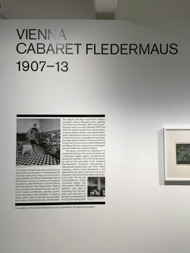 Vienna: Cabaret Fledermaus 1907-13 wall text