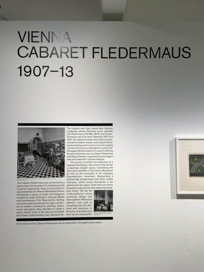 Vienna: Cabaret Fledermaus 1907-13 wall text