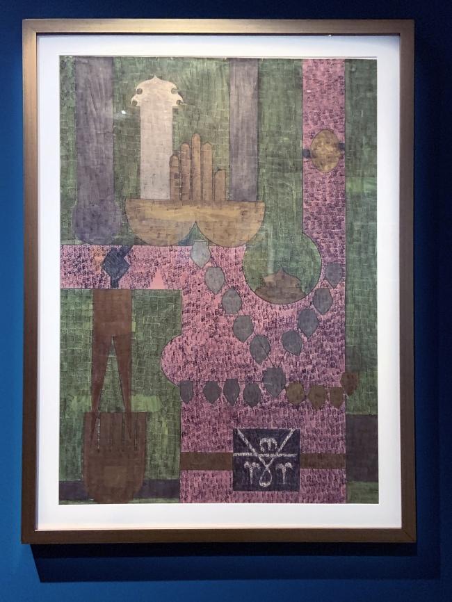 Faramarz Pilaram. 'Untitled (Composition 8)' c. 1960-65 (installation view)