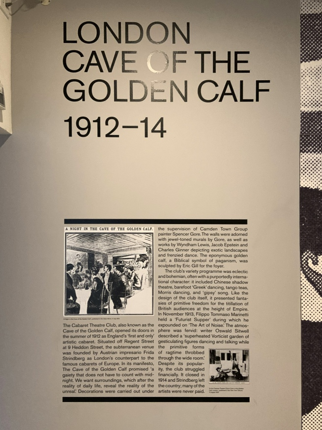 London Cave of the Golden Calf wall text