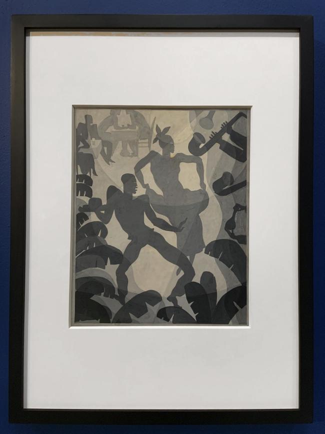 Aaron Douglas. 'Dance' c. 1930 (installation view)