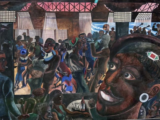 Edward Burra. 'Savoy Ballroom, Harlem' 1934 (installation view)