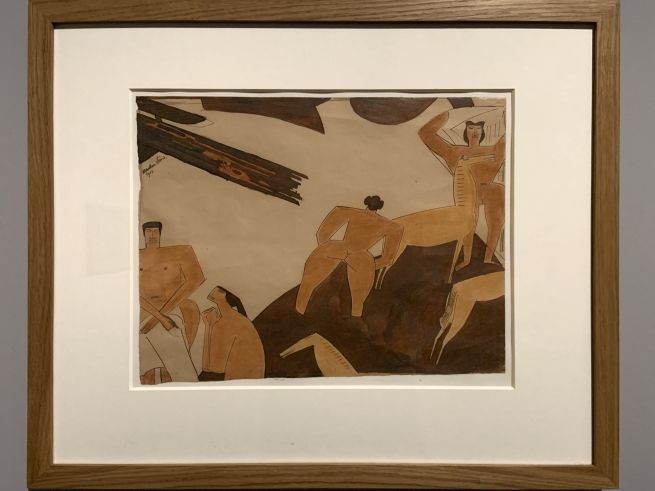 Wyndham Lewis. 'Drop curtain design' 1912 (installation view)