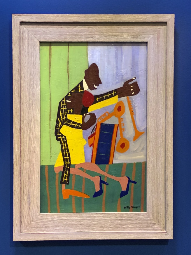 William H. Johnson. 'Jitterbugs (II)' c. 1941 (installation view)