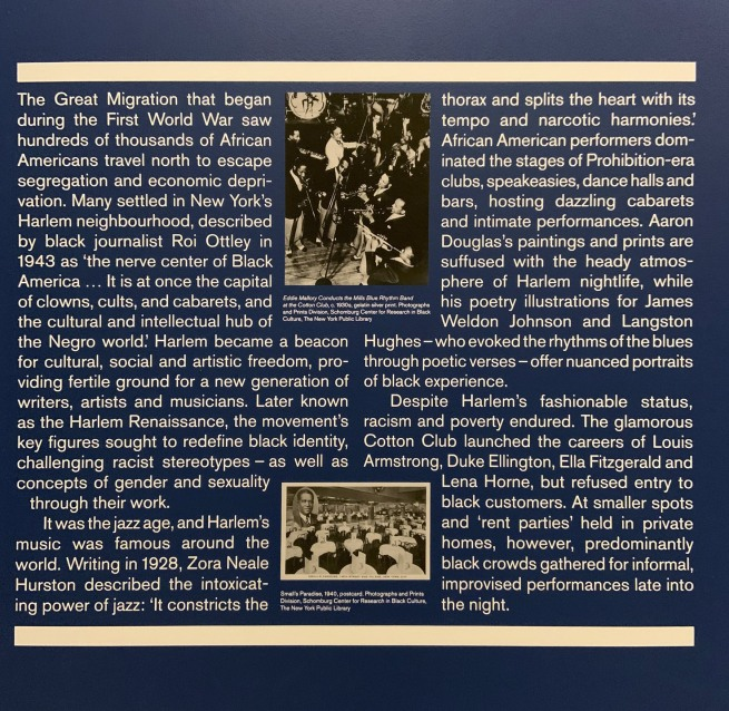Harlem Jazz Clubs and Cabarets 1920s-40s wall text