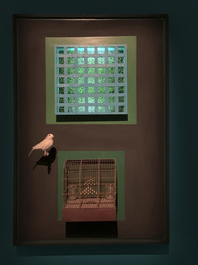 Parviz Tanavoli. 'Cage, cage, cage' 1966 (repaired 2009) (installation view)